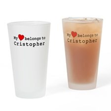 My Heart Belongs To Cristopher Drinking Glass