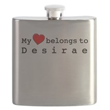 My Heart Belongs To Desirae Flask