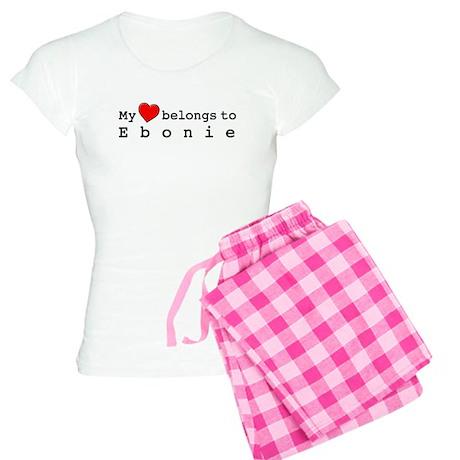 My Heart Belongs To Ebonie Women's Light Pajamas