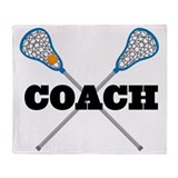 Lacrosse Coach Throw Blanket