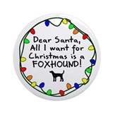 Dear Santa Foxhound Christmas Ornament