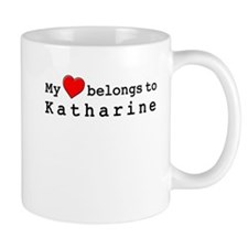 My Heart Belongs To Katharine Mug