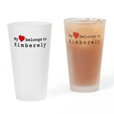 My Heart Belongs To Kimberely Drinking Glass