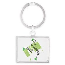 Cute Cross Country Runner Landscape Keychain