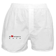 My Heart Belongs To Lola Boxer Shorts