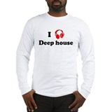 Deep house music Long Sleeve T-Shirt