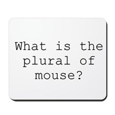 Plural of Mouse - Mousepad