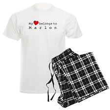 My Heart Belongs To Marlon Pajamas