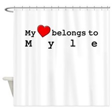 My Heart Belongs To Myle Shower Curtain