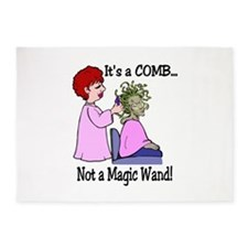 Its a comb not a wand!.png 5'x7'Area Rug
