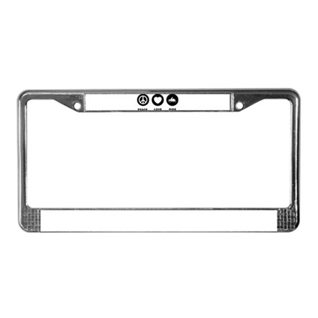 Snowmobile License Plate Frame