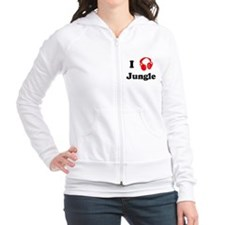 Jungle music Fitted Hoodie