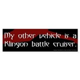 Klingon Battle Cruiser (3) Bumper Bumper Sticker