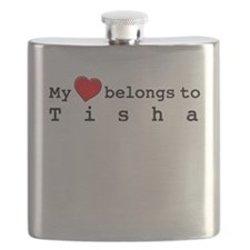 My Heart Belongs To Tisha Flask
