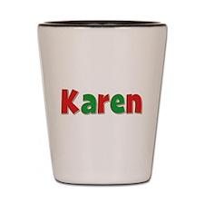 Karen Christmas Shot Glass