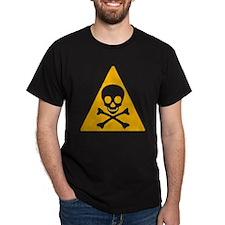 Caution Pirate Skull & Xbones T-Shirt