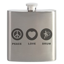 Bass Drum Player Flask