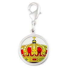 Royal Crown 11 Silver Round Charm
