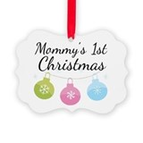 Cute Baby's 1st christmas Picture Ornament