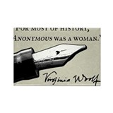 Anonymous Was a Woman Rectangle Magnet