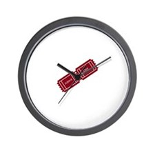 Admit One Ticket Stub Wall Clock