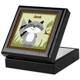 Raccoon Tile - Jacob Keepsake Box