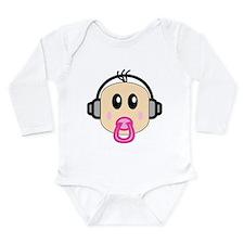 Cute Dj humor Long Sleeve Infant Bodysuit