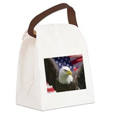 BALD EAGLE -usa pride- Canvas Lunch Bag