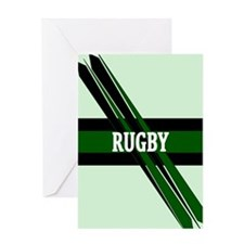 Rugby Points Black Green Greeting Card