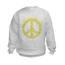Cute Peace love softball Sweatshirt