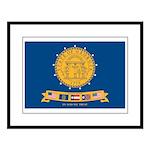 Flag of Georgia 2001-2003 Large Framed Print