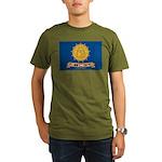Flag of Georgia 2001-2003 Organic Men's T-Shirt (d