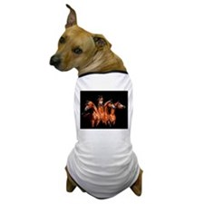 Four Horses Dog T-Shirt