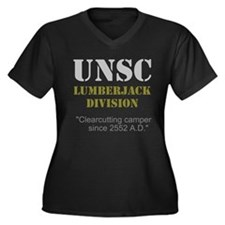 UNSC Lumberjack Division Women's Plus Size V-Neck