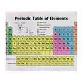 Cute Periodic table of the elements Throw Blanket