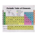 Periodic table Throw Blankets