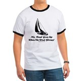 My Mast Goes Up (Sailing) Light Color T-Shirt T-Sh