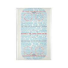 Hockey Rink Typography Design Rectangle Magnet (10