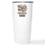 Pominese Dog Dad Ceramic Travel Mug