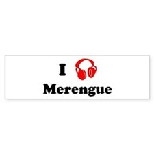 Merengue music Bumper Bumper Sticker