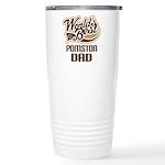 Pomston Dog Dad Ceramic Travel Mug