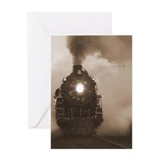 Christmas Train 0.71 Greeting Card