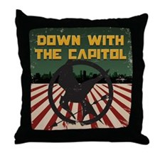 Down With The Capitol - Hunger Games Throw Pillow
