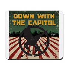 Down With The Capitol - Hunger Games Mousepad