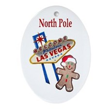 Las Vegas North Pole Oval Ornament