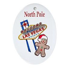 Las Vegas North Pole Oval Ornament