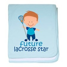 Future Lacrosse Star Boys baby blanket