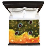 Brook Trout Fly Fishing King Duvet