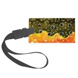 Brook Trout Fly Fishing Large Luggage Tag