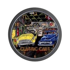 Classic Cars by Mark Moore Wall Clock